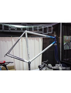 Bishop also showed off this lovely bare frame built with stainless steel tubing.