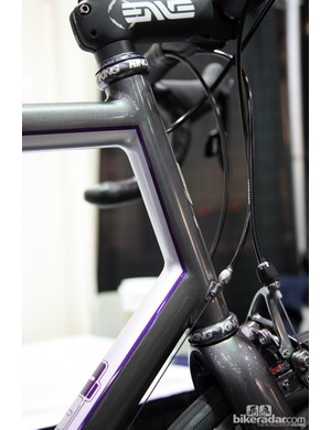 The immaculate paint highlights the exquisite fillet brazing on this Bishop.