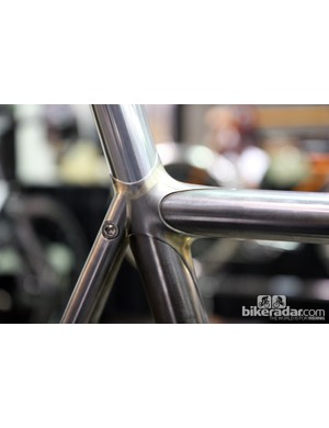 Bishop Bikes used brass fillets to smooth out the lines of this lug. Check out the taper on the points, too.