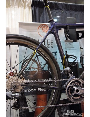Calfee's adventure road bikes feature relaxed geometry and longer front and rear centers for extra tire clearance.