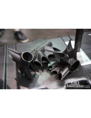 Calfee's webbed carbon fiber lugs have long been a company trademark.