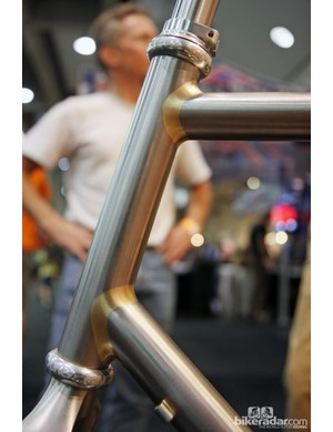 Do you see an imperfections in this Kirk Frameworks fillet brazed head tube? Yeah, neither do we.