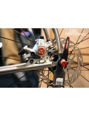 Kirk Frameworks is now offering disc brakes front and rear.