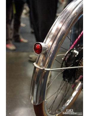 Wiring for the rear light on Tony Pereira's townie is routed through the fender.