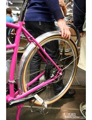 The BionX pedal-assist rear hub motor provides plenty of extra oomph on Tony Pereira's townie.
