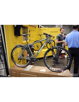 Black Cat built this race-ready 29er for NAHBS but the owner can still do some touring with the removable front and rear racks if desired.