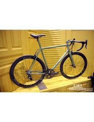 We like the monochrome look on this Black Cat road bike.