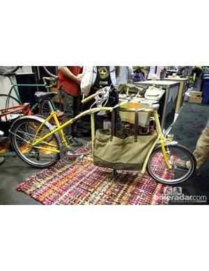 Frances displayed this novel cargo bike at NAHBS.