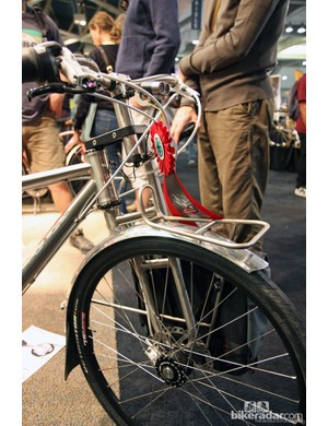 Why a single-sided titanium fork on this Ti Cycles? Just because - that's why.