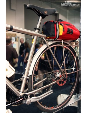 The monostay rear end is a signature item for Ti Cycles.