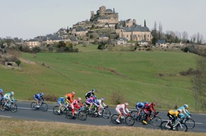 The peloton race during stage 4 of Paris-Nice