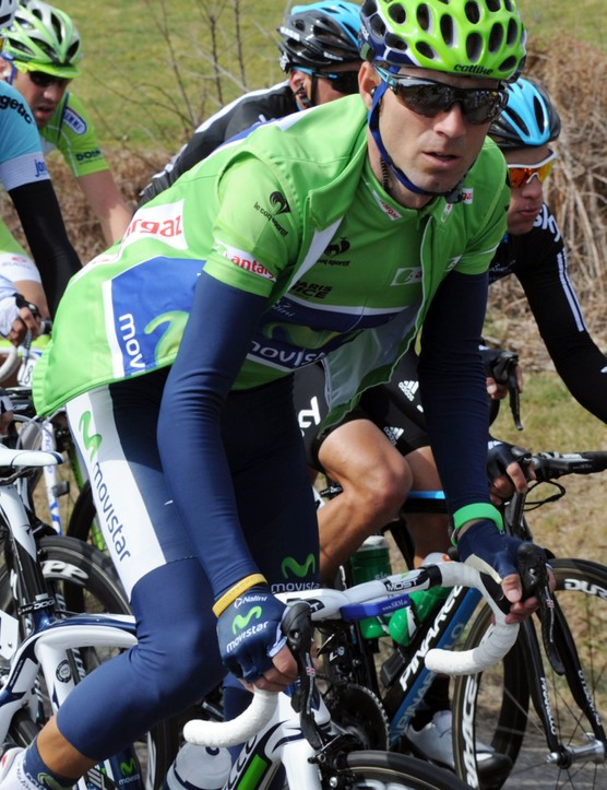 Alejandro Valverde wasn't able to shake things up during stage 4