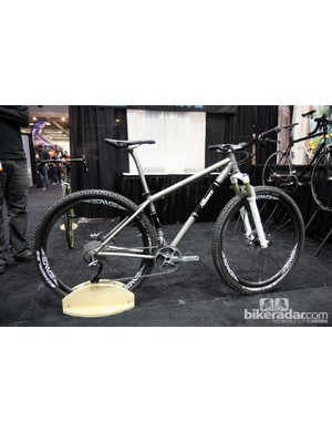 Alliance Bicycles brought this clean-looking titanium 29er hardtail to NAHBS