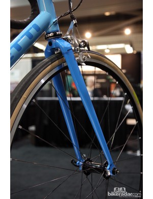Caletti fitted this all-road bike with a lugged steel fork