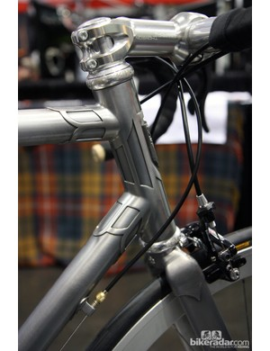 Demon Frameworks built the head tube with one giant lug instead of two separate ones