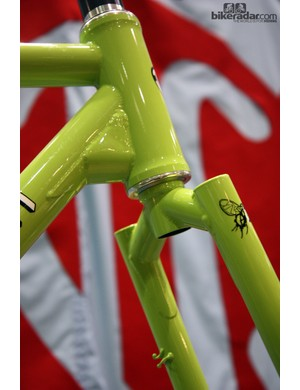 Check out the gusset work on this Chris Igleheart frame. Does the fork look familiar? It should - Igleheart used to weld at Fat City Cycles