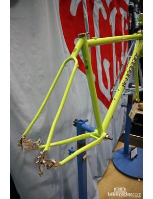 The elegant wishbone-style rear end on Chris Igleheart's adventure road frame