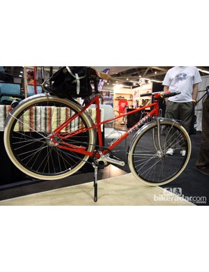 Chris Igleheart showed off this tidy mixte runabout at NAHBS