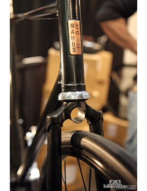 The fork on this Cykelmageren bike has a similar hole in the crown if you prefer to mount the light there instead
