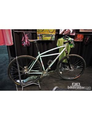 Groovy Cycleworks showed off this, well, groovy singlespeed 29er