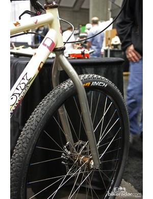 Groovy Cycleworks fitted this belt-driven 29er singlespeed with their own unicrown titanium fork