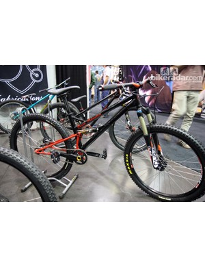 Bicycle Fabrications showed this low-slung full-suspension machine at NAHBS