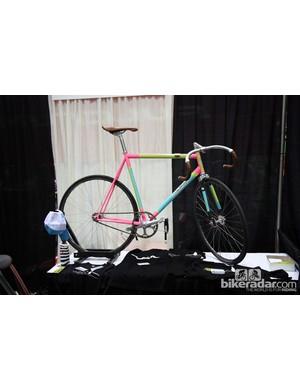 Broakland Bikes displayed this colorful track bike at NAHBS