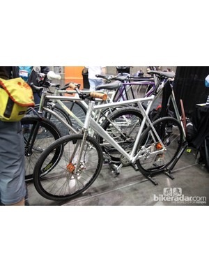 Broakland also brought along this industrial looking fixie with a front disc brake