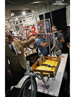 Metrofiets were showing off their heavy duty cargo bikes at NAHBS