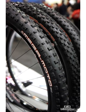Kirk Pacenti says his new 2.4in-wide 650b Mega-Moto tire will be available in about two months