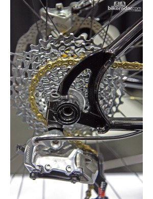Stinner Frameworks included through-axle dropouts on this bike