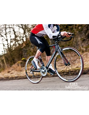 The Ribble Ultra TT's aero frame offers good power delivery for short-course speed
