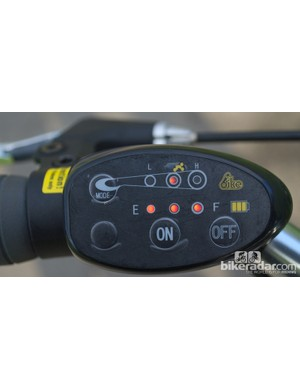The handlebar control is small and easy to use