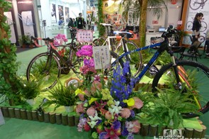 Saying it with flowers is always good. Especially if you can't see the bikes