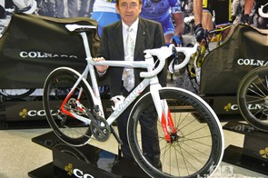 Ernesto Colnago with the C59 Disc