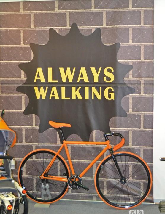 Odd slogan for a bike company