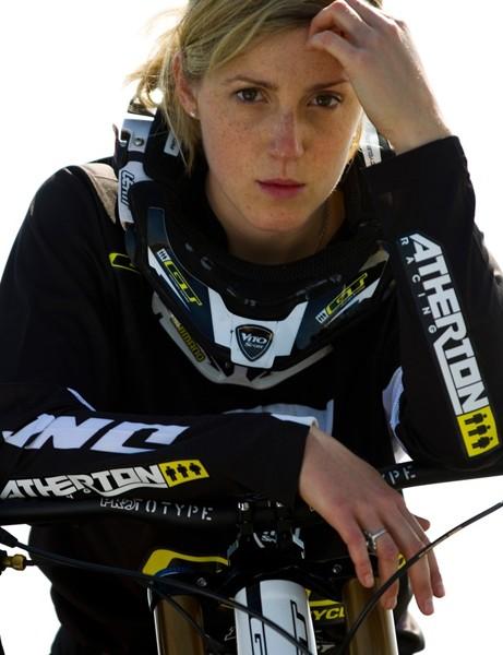 Rachel Atherton – back, in black
