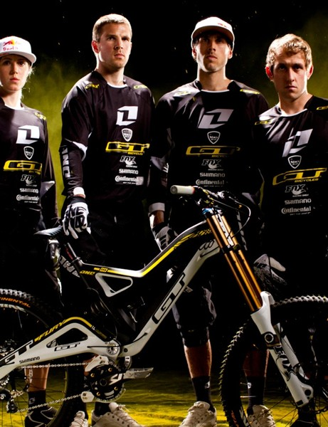 Rachel, Dan, Gee and Marc with their new One Industries kit and GT Fury bike
