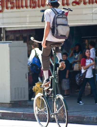 In LA cyclists, and bikes, come in all shapes and sizes