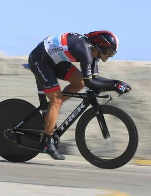 Fabian Cancellara (RadioShack-Nissan) in full flight near San Benedetto del Tronto.
