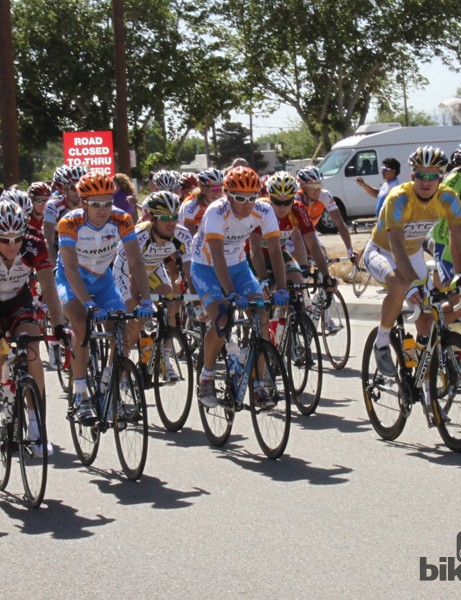 The leaders roll out during the 2010 Amgen Tour of California