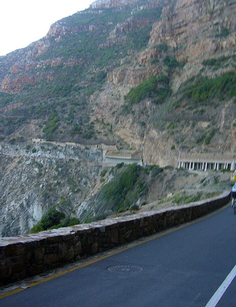The climb up Chapman's Peak was a ride highlight
