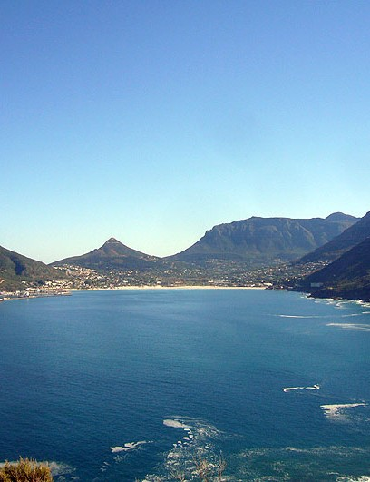 The view overlooking Hout Bay