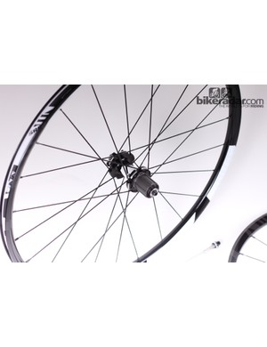 The 135mm QR Rise 40 rear wheel is stout at 1,036g