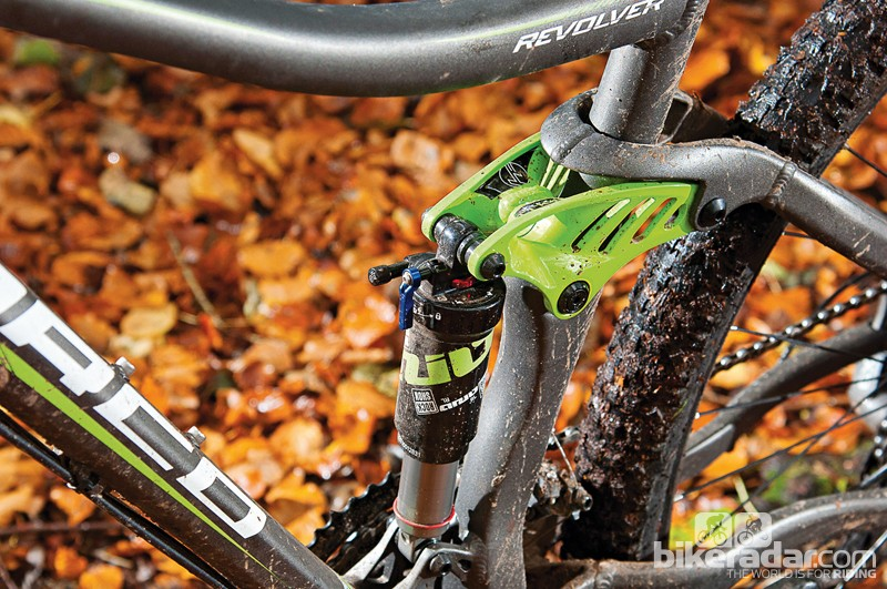RockShox ario shock  offers 100mm of travel  to match the Recon fork up front