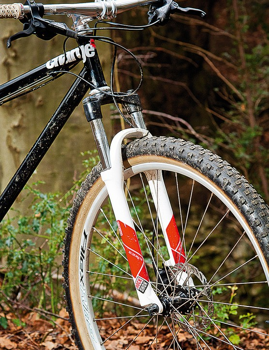 The basic RockShox fork helps keep overall price down