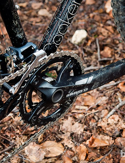 SRAM X5 transmission may not be aspirational but it does the job