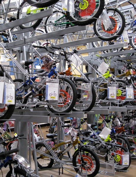 In the US, a rider can buy a bike for as little as $35 at Walmart