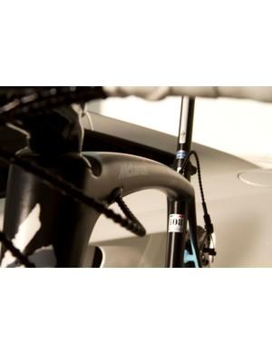 Boonen's rig features matt black paintwork