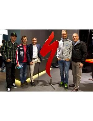 Tom Boonen with Jarno Trulli and Fabrizio Macchi